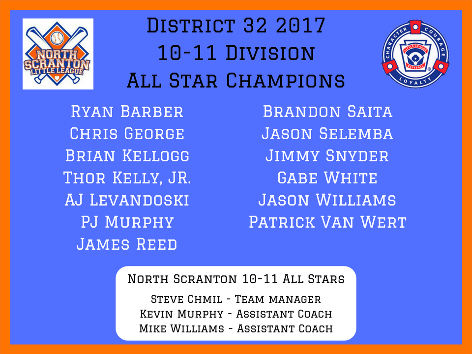 2017 10-11 Division All Star Champs